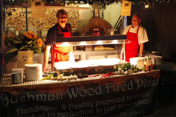 The Bushman Wood Fired Oven Compact Kitchen