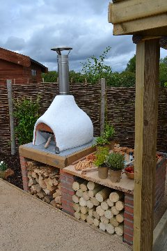 family sized wood fired oven